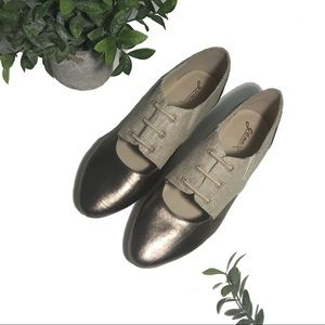 2bb8604b9e94b GOMAX weezer two-tone pointed toe Oxford shoes